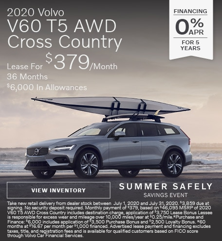New 2020 Volvo V60 T5 AWD Cross Country