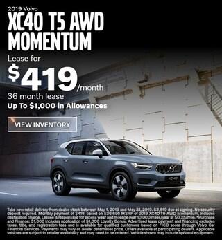 New 2019 Volvo XC40 T5 AWD Momentum