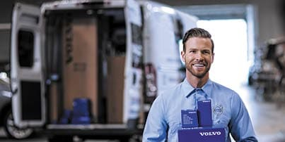 Volvo genuine parts at Clearwater service center.