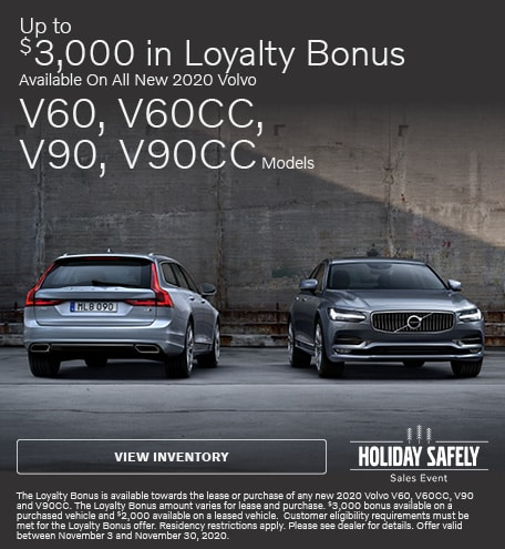 Up To $3,000 in Loyalty Bonus On Select New 2020 Models