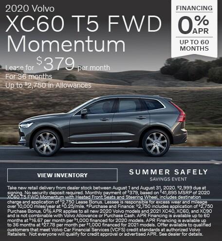 New 2020 Volvo XC60 T5 FWD Momentum
