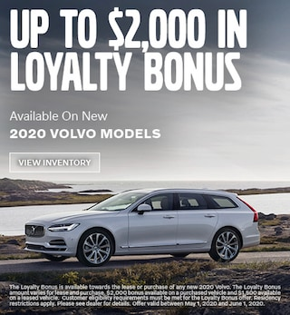 Up To $2,000 In Loyalty Bonus Available On New 2020 Volvo Models