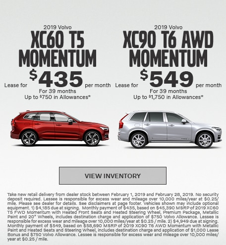 New 2019 Volvo XC60 and XC90