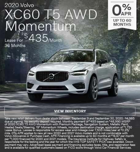 New 2020 Volvo XC60 T5 AWD Momentum