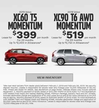 New 2019 Volvo XC60 and Volvo XC90