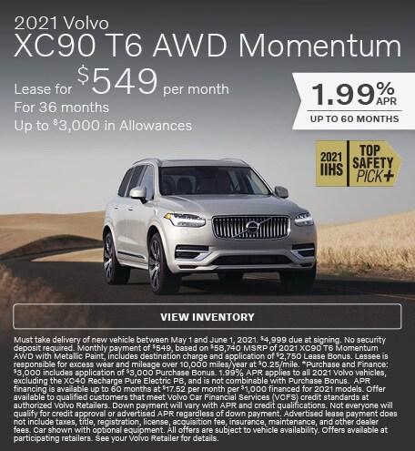 2021 Volvo XC90 T6 AWD Momentum