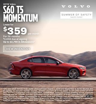 New 2019 Volvo S60 T5 Momentum