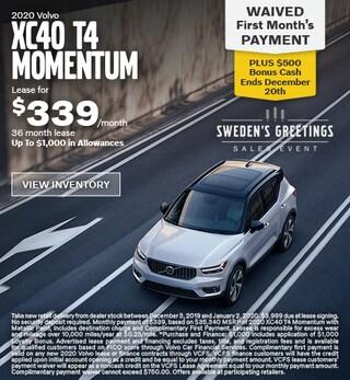 New 2020 Volvo XC40 T4 Momentum
