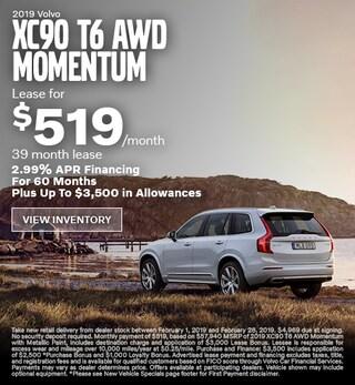 New 2019 Volvo XC90 T6 AWD Momentum