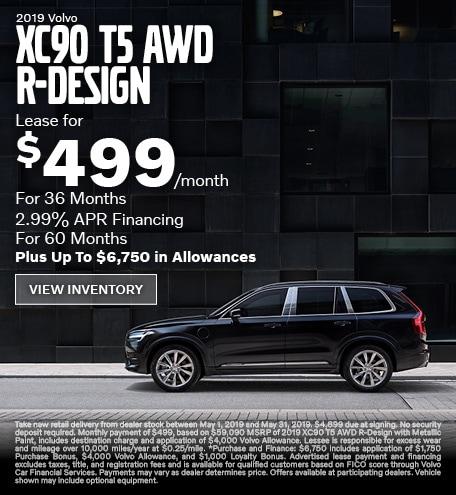 New 2019 Volvo XC90 T5 AWD R-Design
