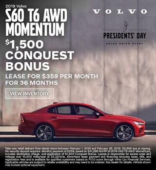 New 2019 Volvo S60 Conquest Bonus
