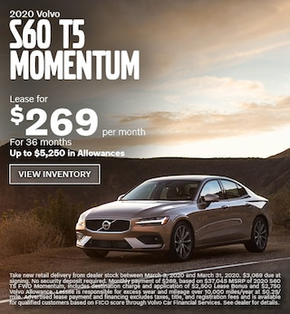 New 2020 Volvo S60 T5 Momentum