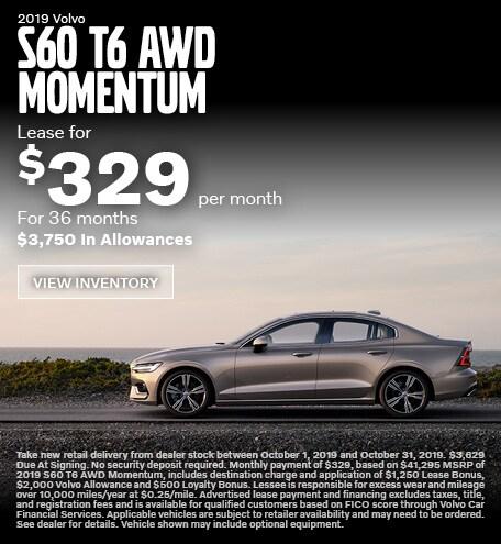 New 2019 Volvo S60 T6 AWD Momentum