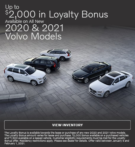 Up To $2,000 in Loyalty Bonus Available On All New 2020 & 2021 Models