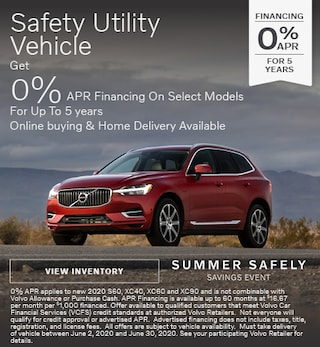 0% APR Financing on Select Volvo Models Up to 5 Years