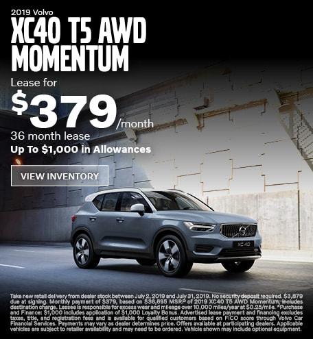 New 2019 XC40 T5 AWD Momentum