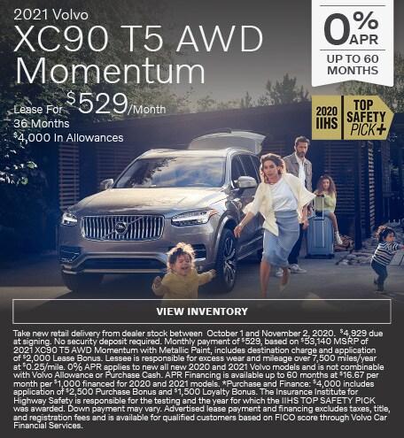 New 2021 Volvo XC90 T5 AWD Momentum