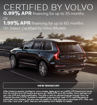 Certified by Volvo APR Offer