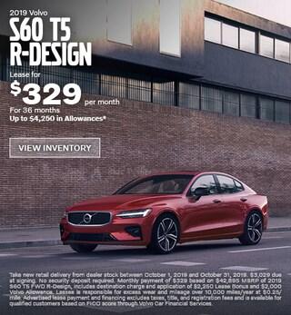 New 2019 Volvo S60 T5 R-Design