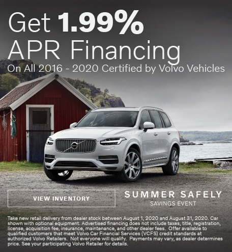 1.99% APR Financing On Select Certified by Volvo Vehicles