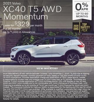New 2021 Volvo XC40 T5 AWD Momentum