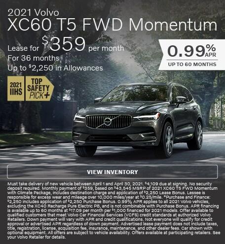 2021 Volvo XC60 T5 FWD Momentum