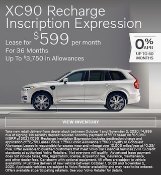 New 2021 Volvo XC90 Recharge Inscription Expression