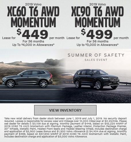 2019 Volvo XC60 T6 AWD Momentum & 2019 XC90 T6 AWD Momentum