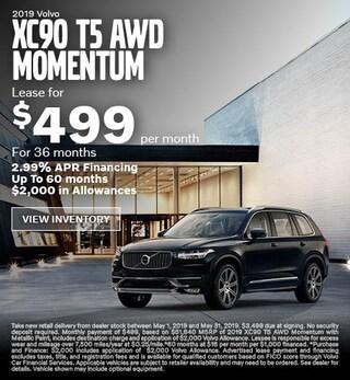 New 2019 XC90 T5 AWD Momentum