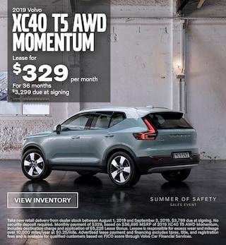 2019 Volvo XC40 T5 AWD Momentum