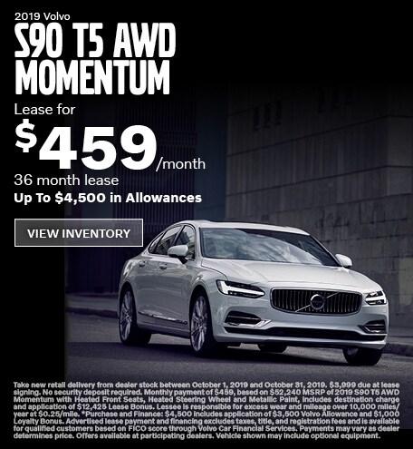 New 2019 Volvo S90 T5 AWD Momentum