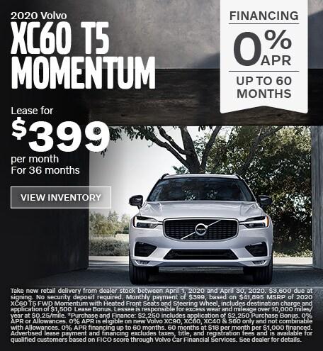 New 2020 Volvo XC60 T5 Momentum