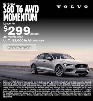 New 2019 S60 T6 AWD Momentum