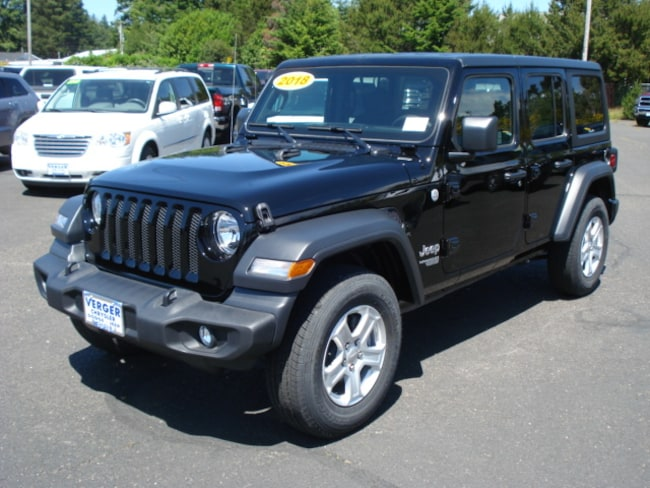 New 2018 Jeep Wrangler UNLIMITED SPORT S 4X4 Sport Utility For Sale/Lease Coos Bay, OR