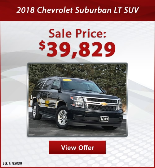 V & H Automotive Used Special 2018 Chevrolet Suburban LT