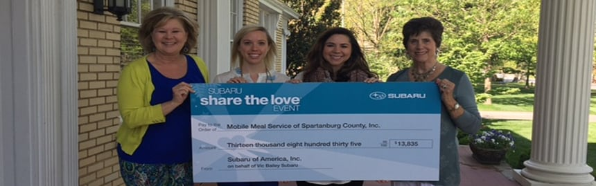 Vic Bailey Subaru >> Vic Bailey Subaru Gives Back Vic Bailey Subaru