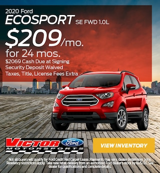 September 2020 Ford EcoSport SE FWD 1.0L