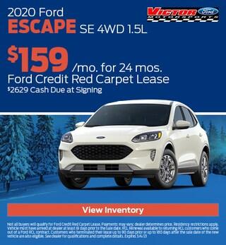 February 2020 Ford Escape SE 4WD 1.5L