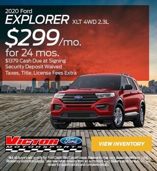 September 2020 Ford Explorer XLT 4WD 2.3L