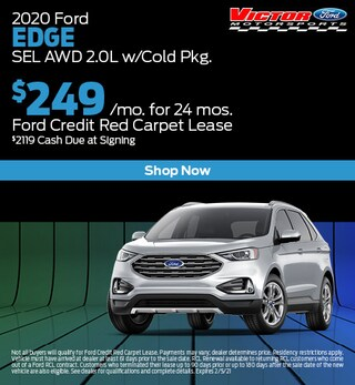 January 2020 Ford Edge SEL AWD 2.0L w/Cold Pkg.