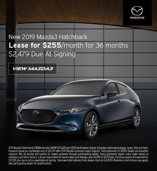 2019 Mazda3 Hatchback - Lease