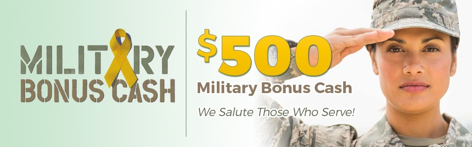 Chrysler Dodge Jeep RAM Military Bonus Cash near Sacramento CA
