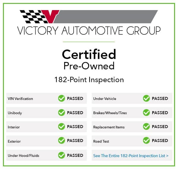 VAG Certified Pre-Owned 182-Point Inspection