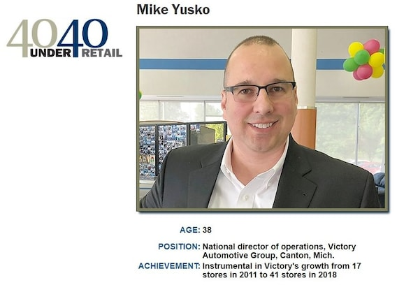 Victory Automotive Group >> Victory Automotive Group S Mike Yusko Named To Automotive