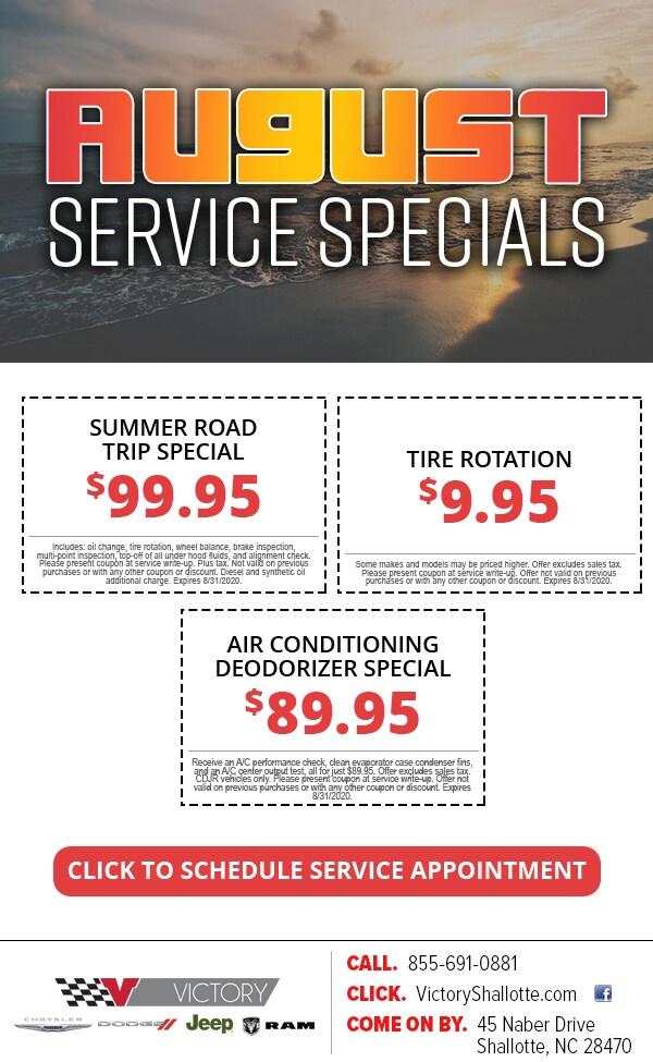 Service Specials near Myrtle Beach