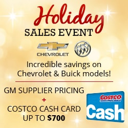 Costco members save on new Chevy or Buick Ann Arbor MI