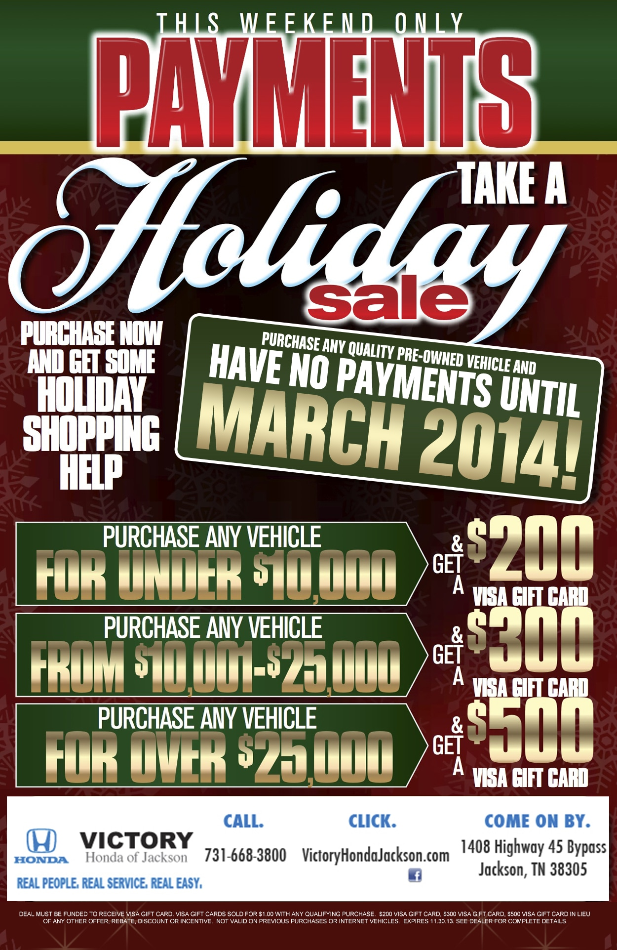 Black Friday Sale | Victory Honda of Jackson Serving Memphis ...