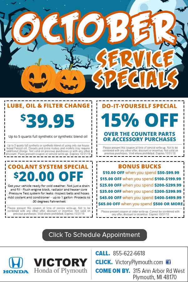 Honda Service Coupon Specials Near Ann Arbor U0026 Detroit