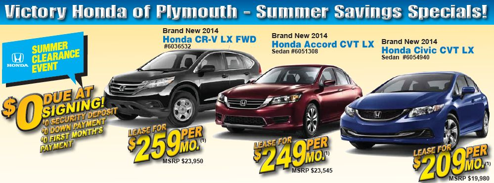 New Honda Discount Specials near Detroit MI