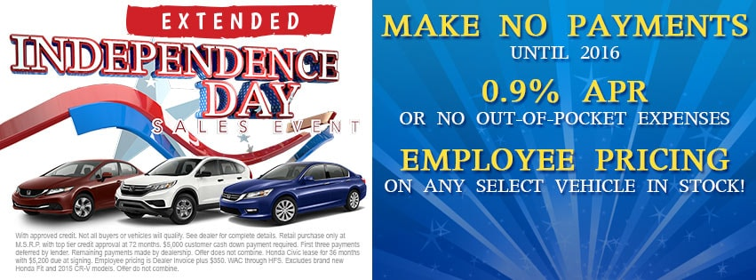 Victory Honda Of San Bruno Independence Day Sales Event Serving SF CA